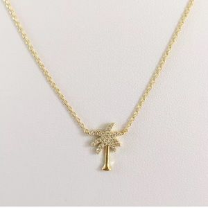 Jewelry - Palm Tree Necklace 18K Gold Plated Necklace New
